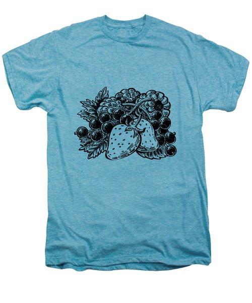 Berries From Forest Men's Premium T-Shirt by Irina Sztukowski