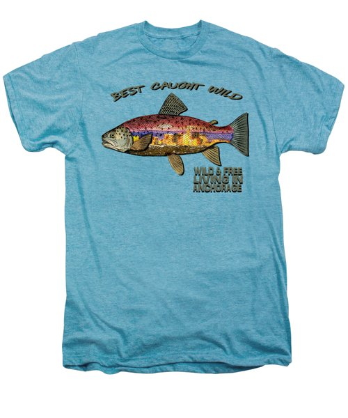 Fishing - Best Caught Wild - On Light No Hat Men's Premium T-Shirt