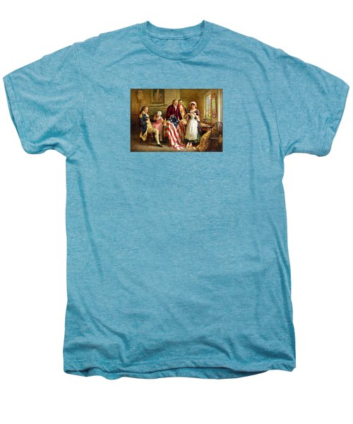 Betsy Ross And General George Washington Men's Premium T-Shirt