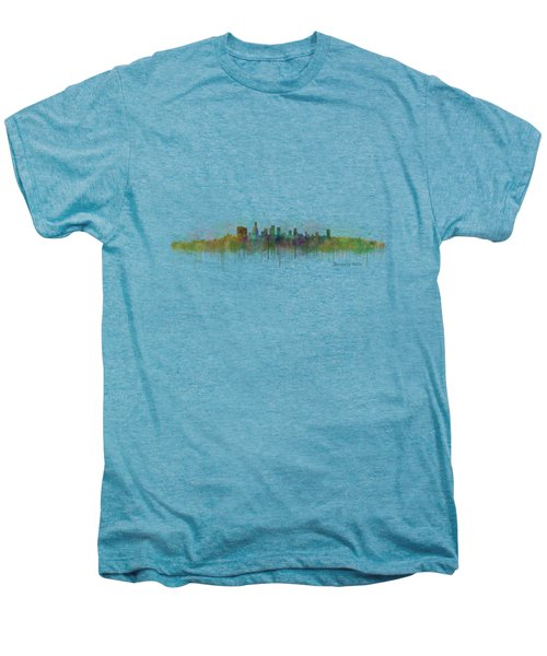 Beverly Hills City In La City Skyline Hq V3 Men's Premium T-Shirt by HQ Photo