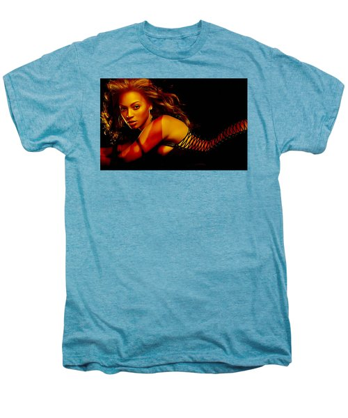 Men's Premium T-Shirt featuring the mixed media Beyonce by Marvin Blaine