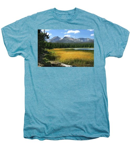 Men's Premium T-Shirt featuring the photograph Autumn At Bierstadt Lake by David Chandler