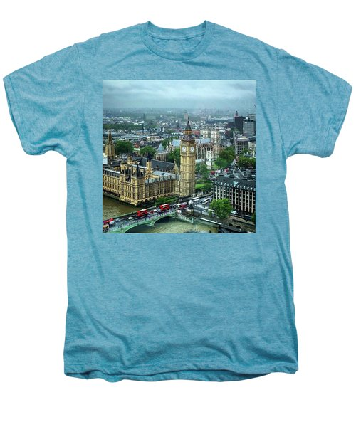 Big Ben From The London Eye Men's Premium T-Shirt