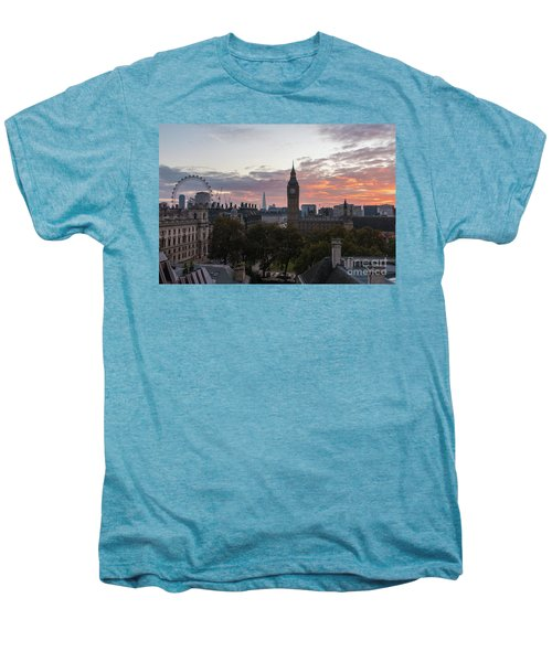 Big Ben London Sunrise Men's Premium T-Shirt by Mike Reid