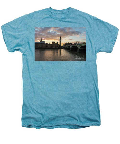Big Ben London Sunset Men's Premium T-Shirt by Mike Reid