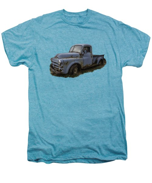 Big Blue Dodge Alone Men's Premium T-Shirt by Debra and Dave Vanderlaan