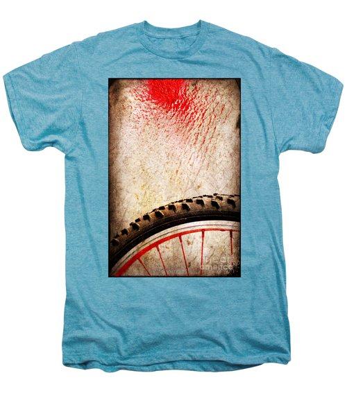 Bike Wheel Red Spray Men's Premium T-Shirt