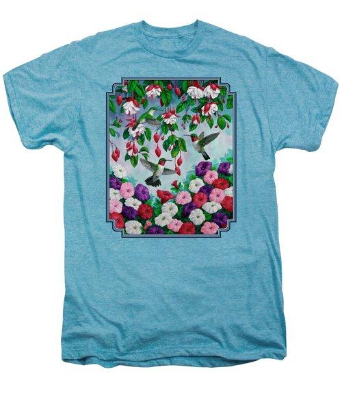 Bird Painting - Hummingbird Heaven Men's Premium T-Shirt