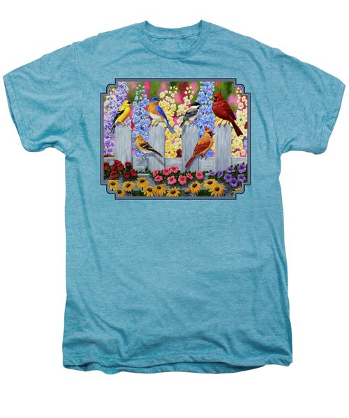 Bird Painting - Spring Garden Party Men's Premium T-Shirt by Crista Forest