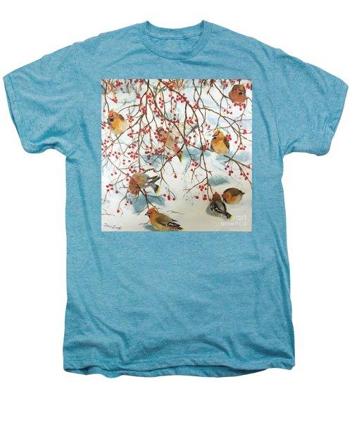 Birds And Berries Men's Premium T-Shirt