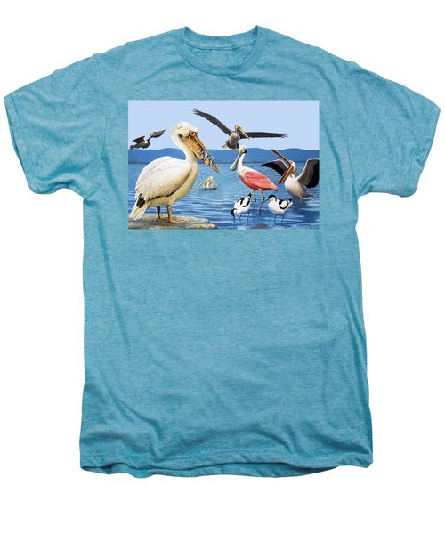 Birds With Strange Beaks Men's Premium T-Shirt by R B Davis