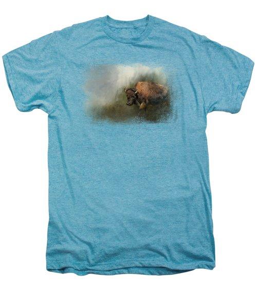 Bison After The Mud Bath Men's Premium T-Shirt by Jai Johnson