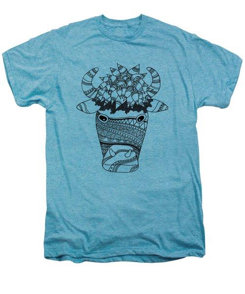 Bison Men's Premium T-Shirt by Sarah Rosedahl