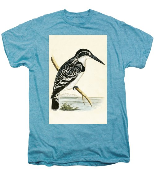 Black And White Kingfisher Men's Premium T-Shirt by English School