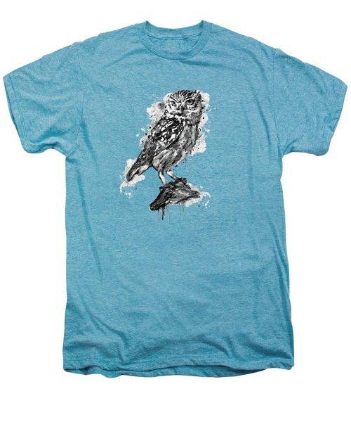 Black And White Owl Men's Premium T-Shirt