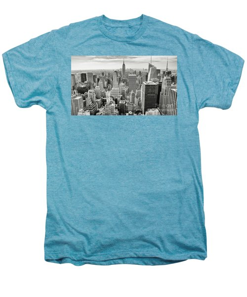 Men's Premium T-Shirt featuring the photograph Black And White Skyline by MGL Meiklejohn Graphics Licensing