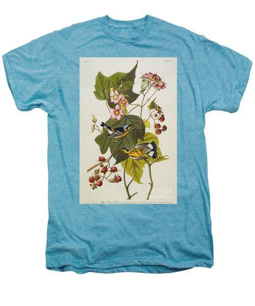 Black And Yellow Warbler Men's Premium T-Shirt