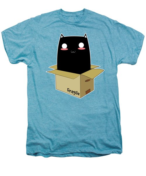 Black Cat In A Box Men's Premium T-Shirt