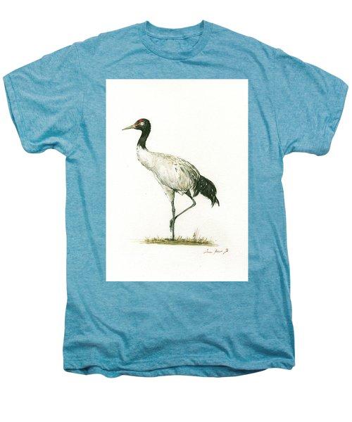 Black Necked Crane Men's Premium T-Shirt