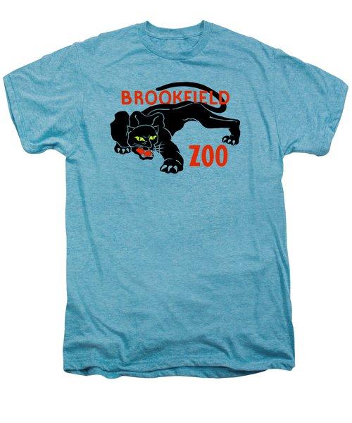 Black Panther Brookfield Zoo Ad Men's Premium T-Shirt by Heidi De Leeuw