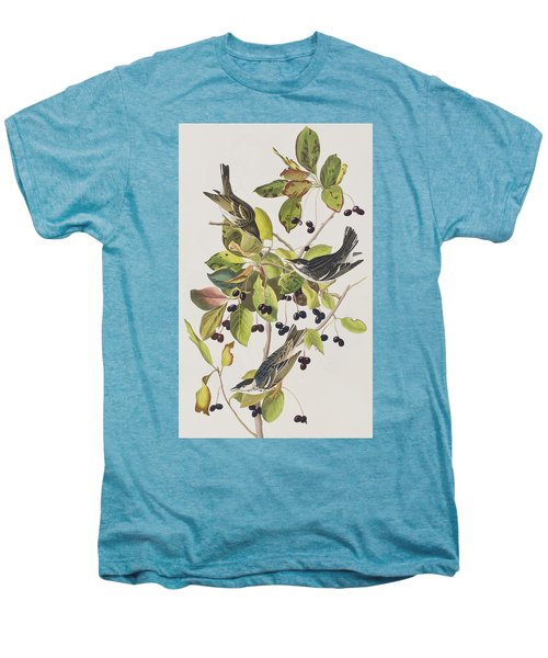 Black Poll Warbler Men's Premium T-Shirt by John James Audubon