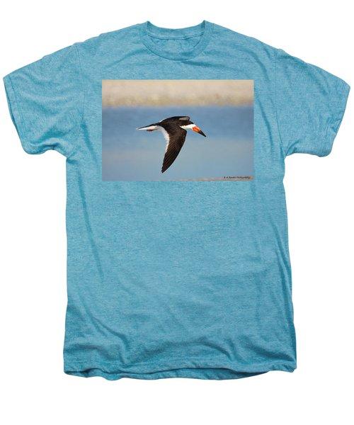 Black Skimmer In Flight Men's Premium T-Shirt