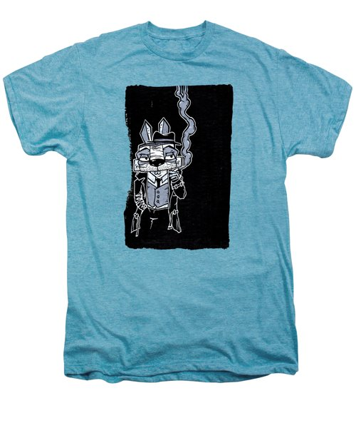 Blake Burns Detective Bunny Men's Premium T-Shirt by Bizarre Bunny