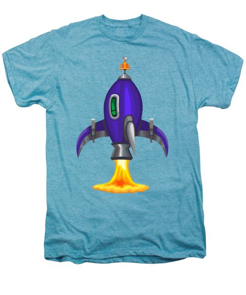 Blue Bomber Rocket Men's Premium T-Shirt by Brian Kemper