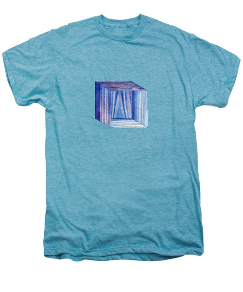 Blue Box Sitting Men's Premium T-Shirt by YoPedro