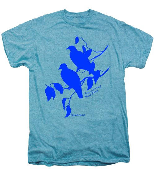 Blue Doves Men's Premium T-Shirt by The one eyed Raven