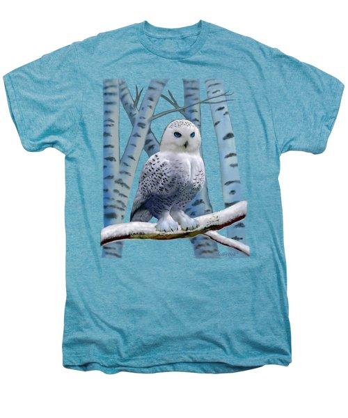 Blue-eyed Snow Owl Men's Premium T-Shirt