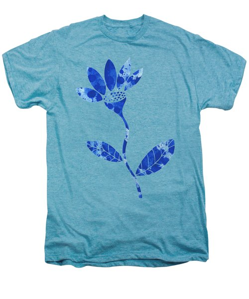 Blue Flower Men's Premium T-Shirt