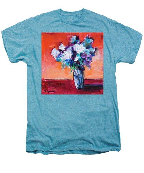 Blue Flowers In A Vase Men's Premium T-Shirt