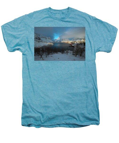 Blue Hour Over Reine Men's Premium T-Shirt by Dubi Roman