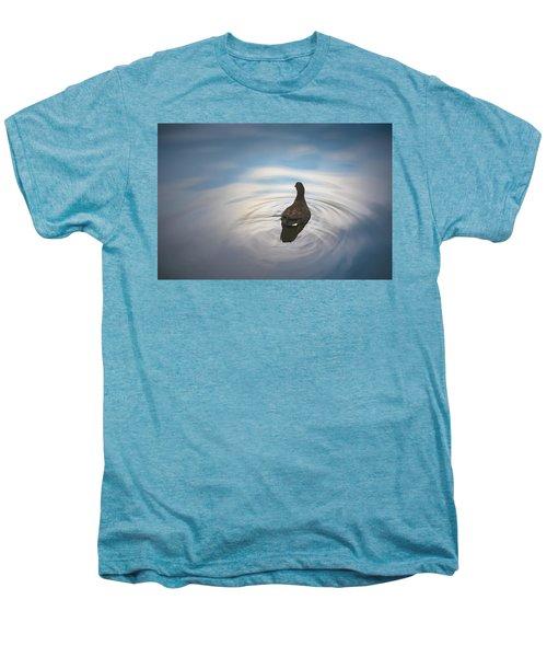 Blue Light Moorhen Men's Premium T-Shirt
