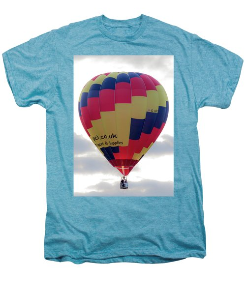 Blue, Red And Yellow Hot Air Balloon Men's Premium T-Shirt