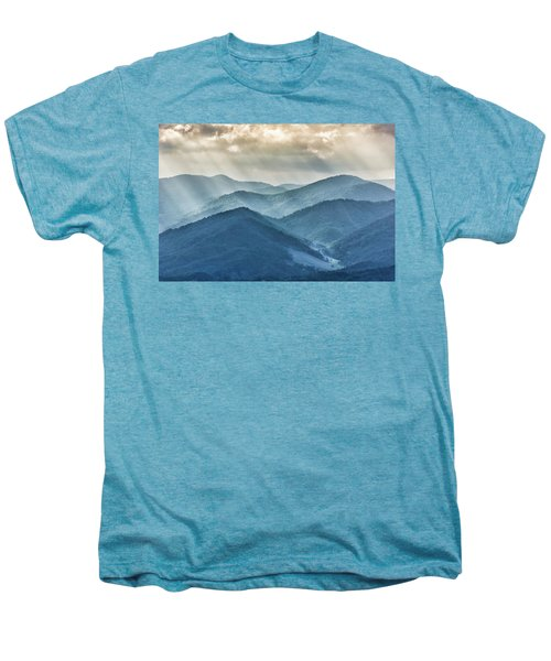 Blue Ridge Sunset Rays Men's Premium T-Shirt