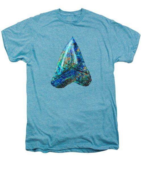 Blue Shark Tooth Art By Sharon Cummings Men's Premium T-Shirt by Sharon Cummings