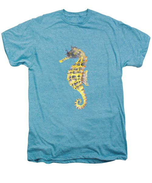 Blue Yellow Seahorse - Square Men's Premium T-Shirt