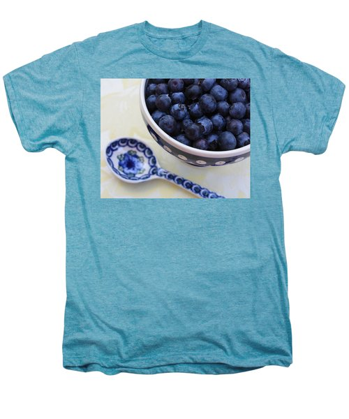 Blueberries And Spoon  Men's Premium T-Shirt