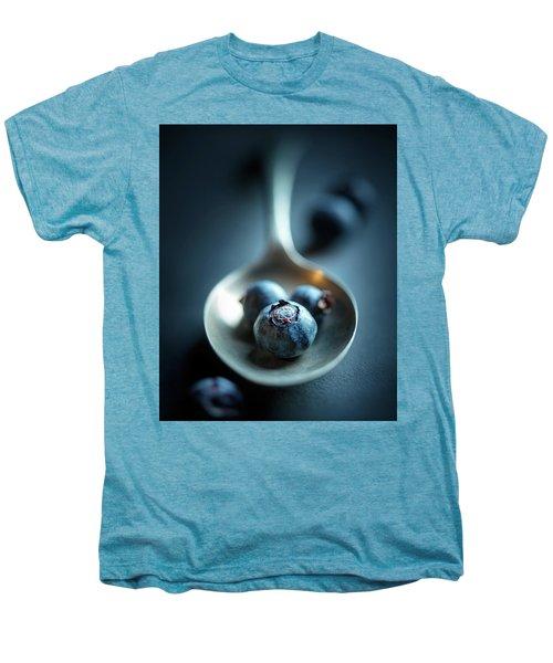 Blueberries Macro Still Life Men's Premium T-Shirt