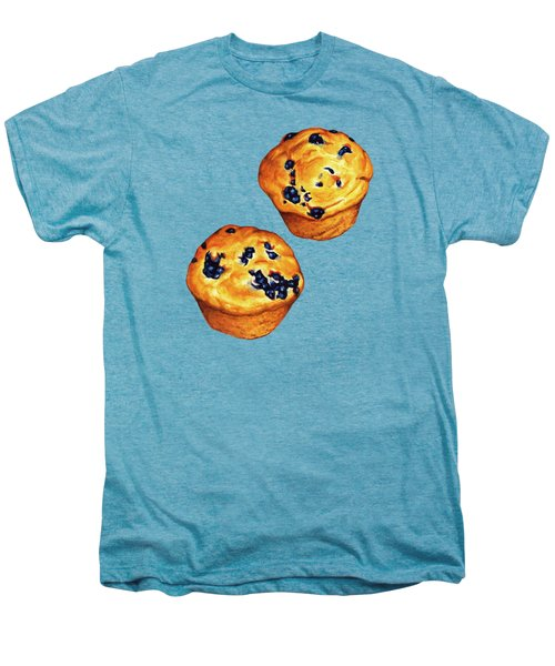 Blueberry Muffin Pattern Men's Premium T-Shirt