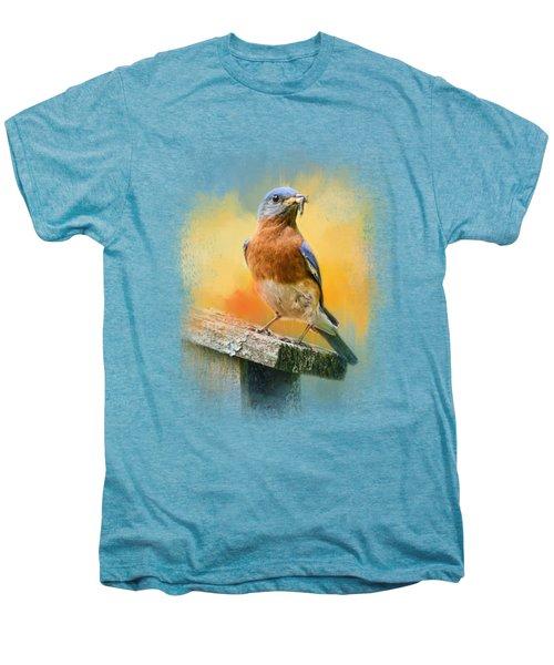 Bluebird Mealtime Men's Premium T-Shirt by Jai Johnson