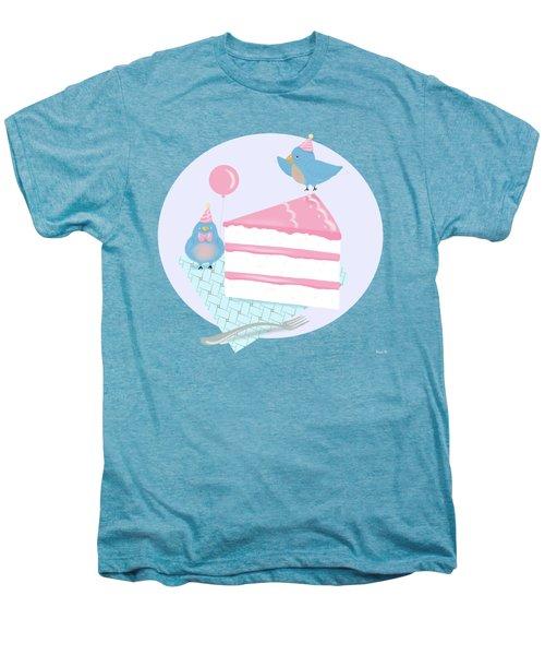 Bluebirds Love Birthday Cake Men's Premium T-Shirt by Little Bunny Sunshine