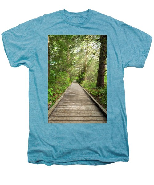 Boardwalk Along Hiking Trail At Fort Clatsop Men's Premium T-Shirt