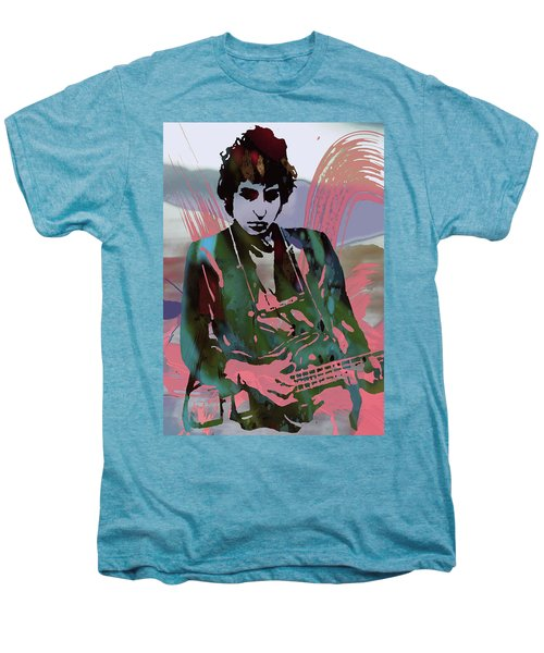 Bob Dylan Modern Etching Art Poster Men's Premium T-Shirt by Kim Wang