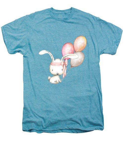Boho Bunny With Balloons Men's Premium T-Shirt
