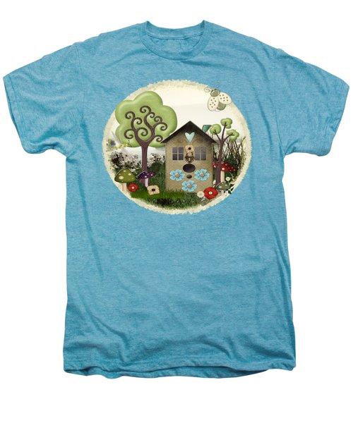 Bonnie Memories Whimsical Mixed Media Men's Premium T-Shirt by Sharon and Renee Lozen