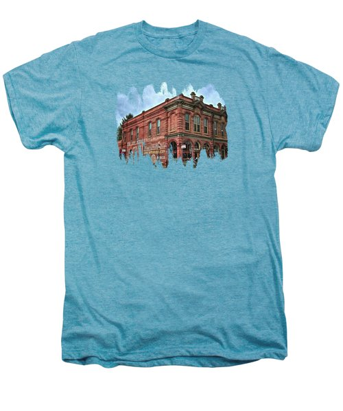 Boomtown Saloon Jacksonville Oregon Men's Premium T-Shirt by Thom Zehrfeld