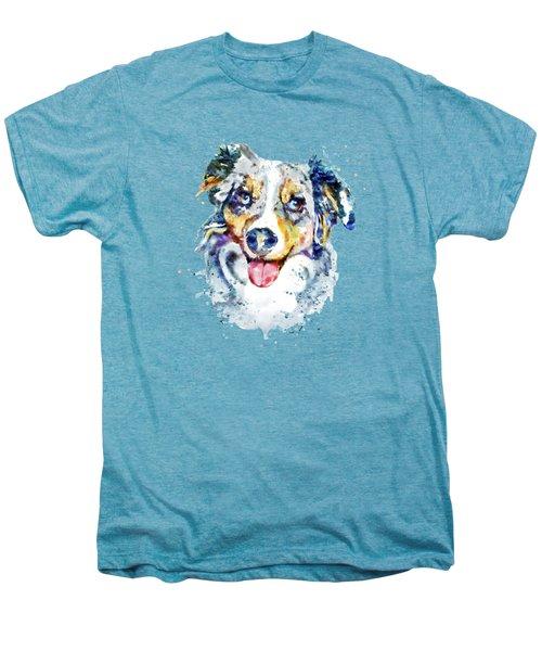 Border Collie  Men's Premium T-Shirt by Marian Voicu